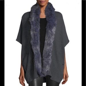 NWT Metric Knit fur collection women's cardigan